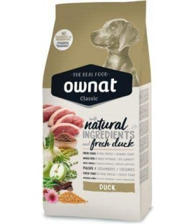 Ownat Classic Duck Alimento Diario para Perros Adultos 15Kg