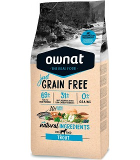 Ownat Dog Just Grain Free Trout 14 Kg
